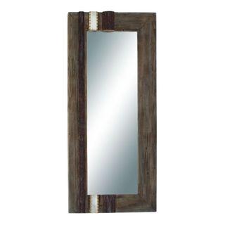 Benzara Wood-framed Full-length Wall Mirror