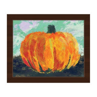 'Persimmon Tinted Pumpkin' Framed Canvas Wall Art