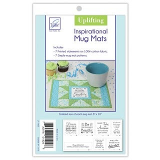 June Tailor Uplifting Series White Cotton Inspirational Mug Mat Kit