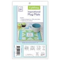 June Tailor Uplifting Series White Cotton Inspirational Mug Mat Kit