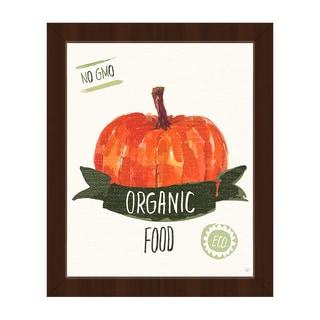 Organic Food Pumpkin Framed Canvas Wall Art Print