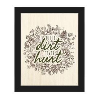 'A Little Dirt Never Hurt' Framed Canvas Wall Art