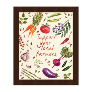 'Support Your Local Farmers' Framed Canvas Wall Art