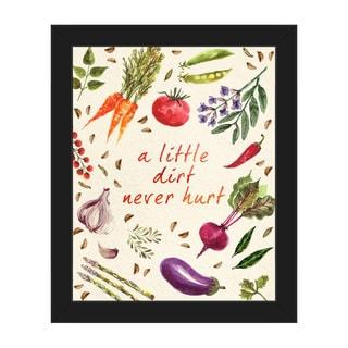 'Vegetable - A Little Dirt' Framed Canvas Wall Art