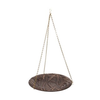 Whitehall Dragonfly Oil-rubbed Bronze Finish Aluminum Hanging Birdbath