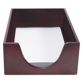 Carver Hardwood Legal Stackable Desk Tray Mahogany