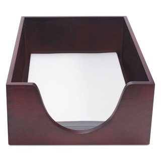 Carver Hardwood Legal Stackable Desk Tray Mahogany