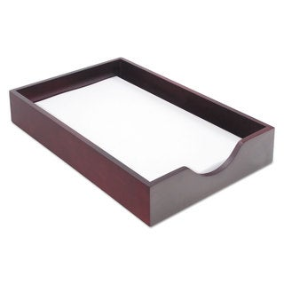 Carver Hardwood Legal Stackable Desk Tray Mahogany (15.25-inch long x 10.25-inch wide x 2.5-inch high)