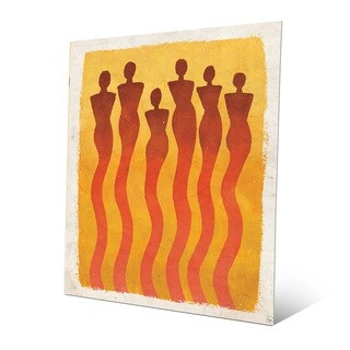 'Wispy Women Orange' Metal Wall Art Print