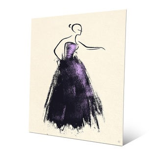 Formal Dress Violet Aluminum Metal Wall Art Print