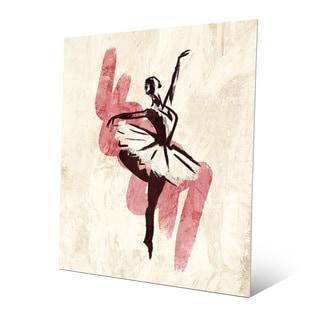 Gestural Ballerina Pink Metal Wall Art