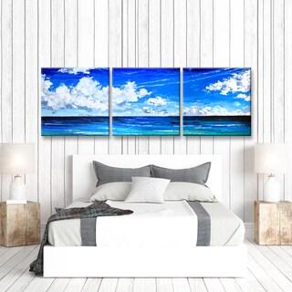Ready2HangArt 'Deep Blue' by Sarah LaPierre 3 Piece Canvas Art