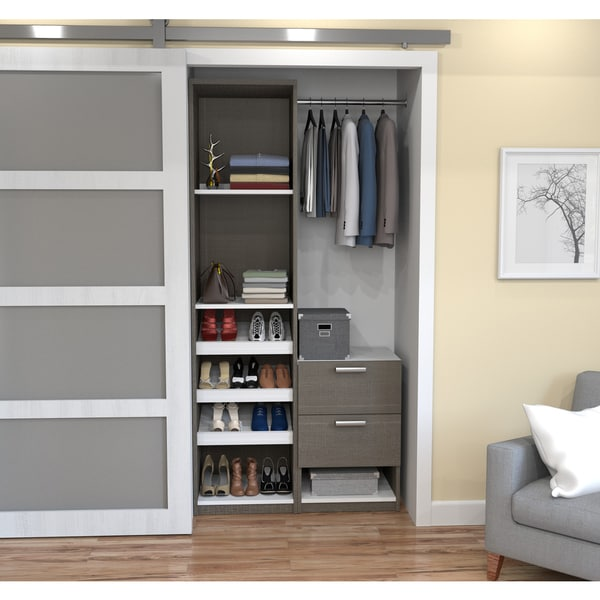 Cielo By Bestar Deluxe 39 Inch Reach In Closet Free Shipping Today