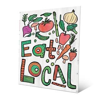 'Eat Local Alpha' Metal Wall Art Print