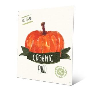 'Organic Food Pumpkin' Metal Wall Art Print
