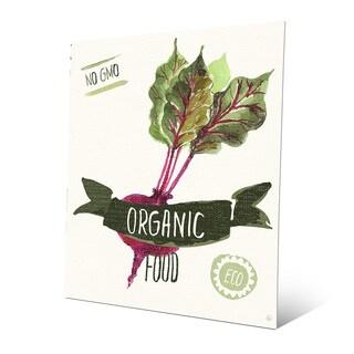 'Organic Food Beet Green' Aluminum Wall Art Print