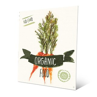 'Organic Food Carrots Green' Aluminum Wall Art Print