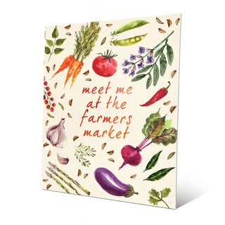 'Vegetable Farmer's Market' Metal Wall Art