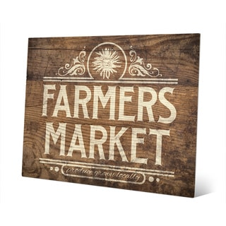 'Farmers Market Sign' Metal Wall Art