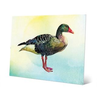 'Watercolor Goose' Metal Wall Art Print