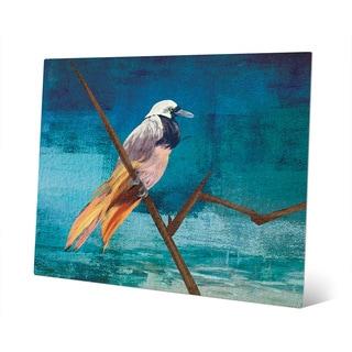 Bird of Paradise on Cerulean Metal Wall Art