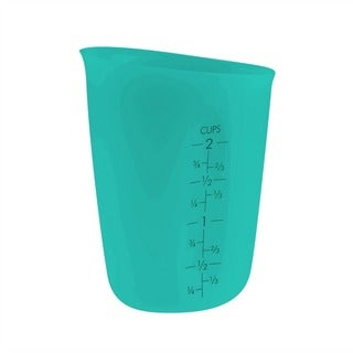 Flirty Kitchens Flexible Teal Silicone 2-cup Liquid Measuring Cup