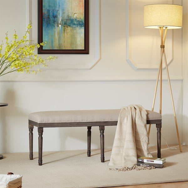 Hilton Beige Traditional French Bench