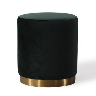 Opal Green Velvet Ottoman