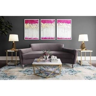 Oslo Grey Velvet Sofa