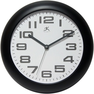 Infinity Instruments Black Resin 12-inch Round Wall Clock
