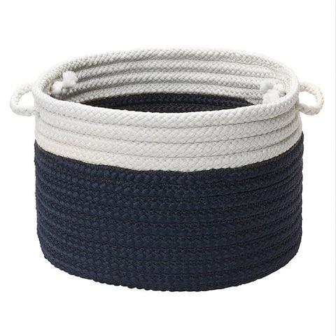 Dip-Dye Marine Navy Storage Basket with Handles