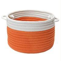 Dip-Dye Orange Zest Storage Basket w/Handles