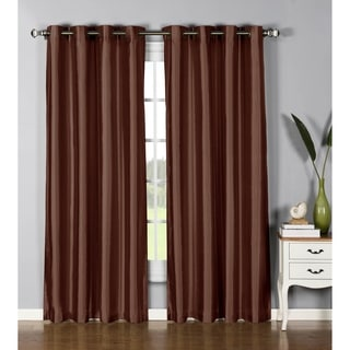 Window Elements Jane Faux Silk Grommet 84-inch Extra-wide Curtain Panel - 54 x 84