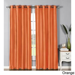 Window Elements Jane Faux Silk Grommet 84-inch Extra-wide Curtain Panel - 54 x 84