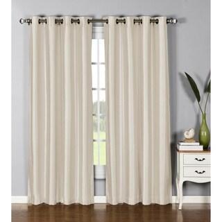 Window Elements Jane Faux Silk 95-inch Grommet Curtain Panel - 54 x 95