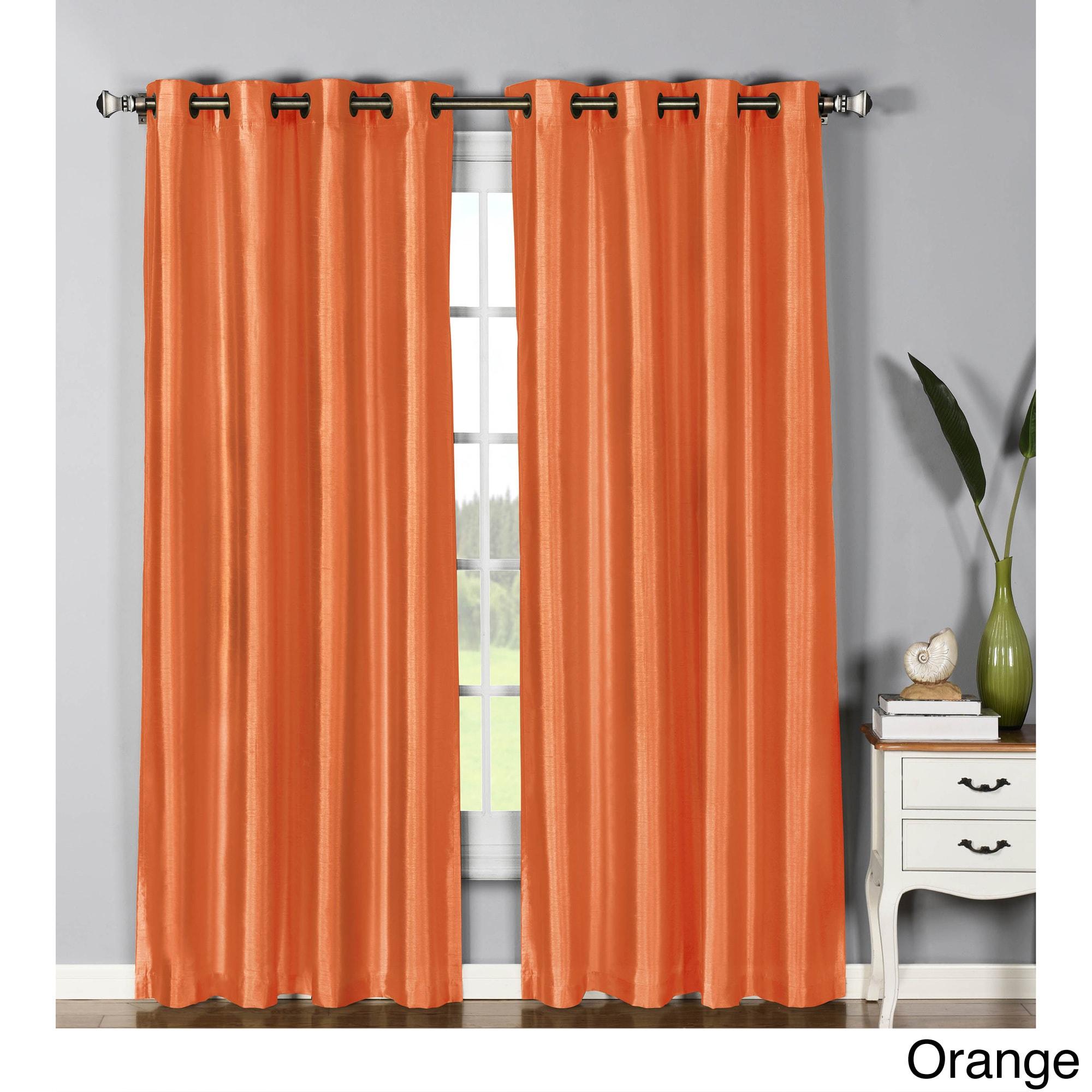 Window Elements Jane Faux Silk 95-inch Grommet Curtain Pa...