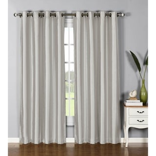 Window Elements Jane Faux-silk 84-inch Grommet Curtain Panel Pair - 76 x 84