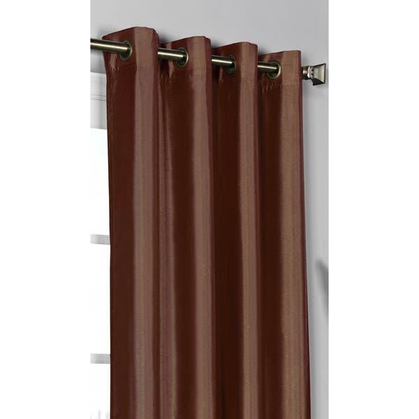 Window Elements Jane Faux Silk 84 Inch Grommet Curtain