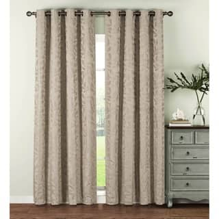 Window Elements Alpine Textured Woven Leaf Jacquard Grommet 96-in. Curtain Panel Pair|https://ak1.ostkcdn.com/images/products/14173828/P20772841.jpg?impolicy=medium