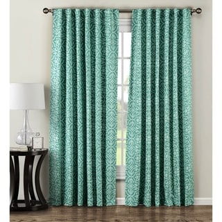 Window Elements Allure Printed Cotton Blend 84-inch Rod Pocket Curtain Panel Pair - 104 x 84