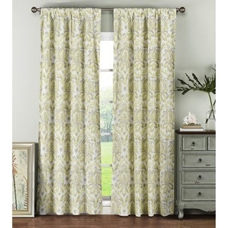Window Elements Biltmore Cotton 84-inch Rod-pocket Curtain Panel Pair