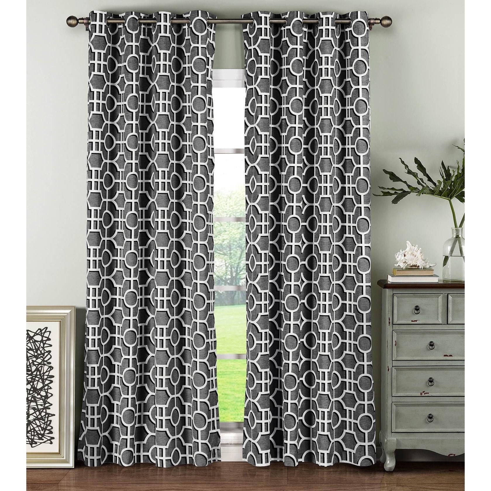 Window Elements Lenox Cotton 96 Inch Grommet Curtain