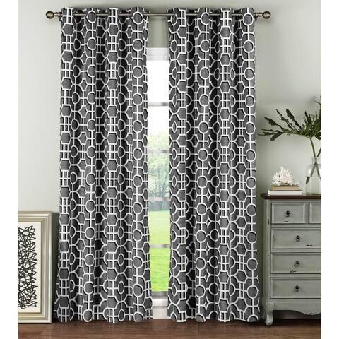 Window Elements Lenox Cotton 96-inch Grommet Curtain Panel Pair