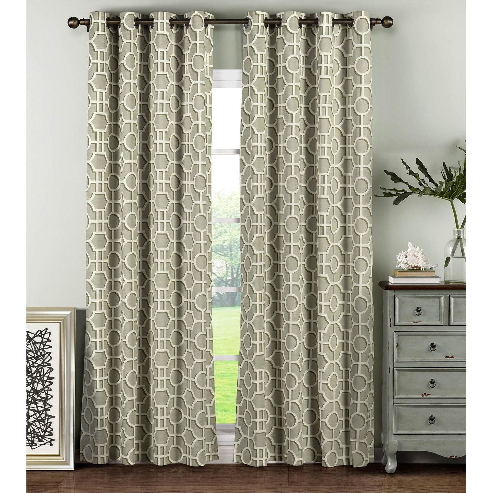 Details About Window Elements Lenox Cotton 96 Inch Grommet Curtain Panel Pair