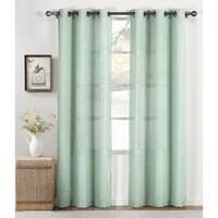 Window Elements Nubby Linen Blend 84-inch Grommet Curtain Panel (Set of 2) - 76 x 84