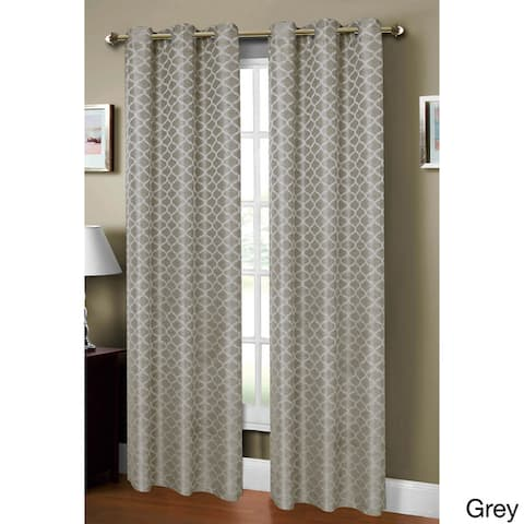 Window Elements Sonata Jacquard 84-inch Extra Wide Grommet Curtain Panel - 54 x 84 - 54 x 84