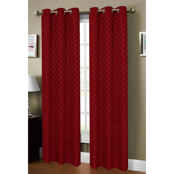 Window Elements Sonata Jacquard 84-inch Extra Wide Grommet Curtain Panel - 54 x 84 - 54 x 84. Opens flyout.