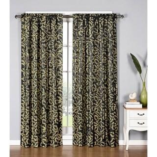Window Elements Dawson Shimmering Leaf 84-inch Extra-wide Rod Pocket Curtain Panel - 54 x 84