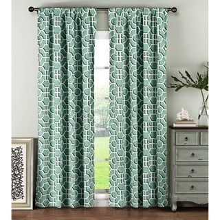 Window Elements Lenox 96 Inch Rod Pocket Curtain Panel Pair