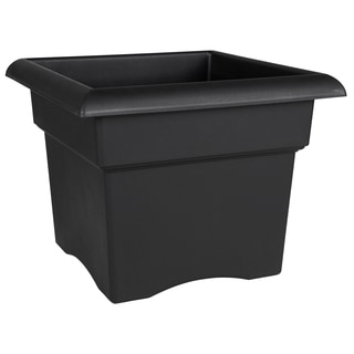 Bloem Veranda Deck Box Planter, 18-inch, Black